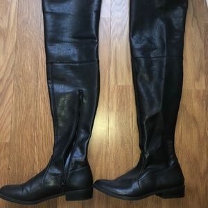 INC International Concepts Leather Thigh High Boot